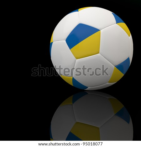 Ukraine flag on 3d football for Euro 2012 Group D