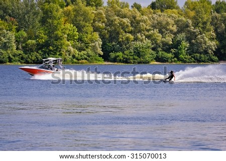Ukraine. Kiev. 28-29.08.2015 championship wakeboarding among adults (boat version) IWWF