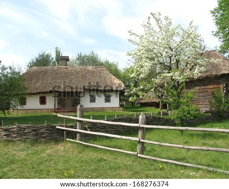 Ukraine. Spring in the village - stock photo