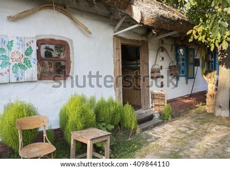Ukrainian traditional village - stock photo