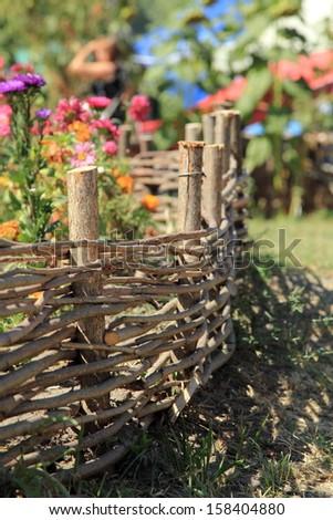 Ukrainian village in the summer - stock photo
