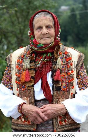 An Old Ukrainian Woman
