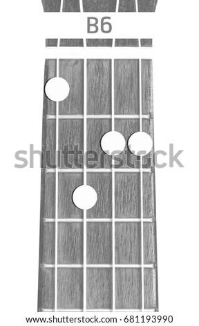 Ukulele Chord B 6 On White Background Stock Photo Royalty Free