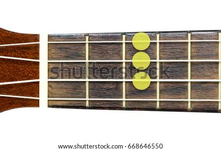Ukulele Chord Cm C Minor On Stock Photo 668646550 Shutterstock