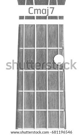 Ukulele Chord Cmaj 7 On White Background Stock Photo Edit Now