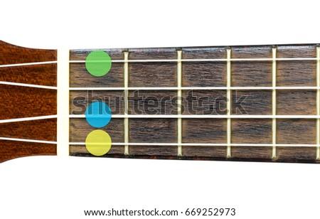 Ukulele Chord Db Minor 6 Dbm Stock Photo Royalty Free 669252973