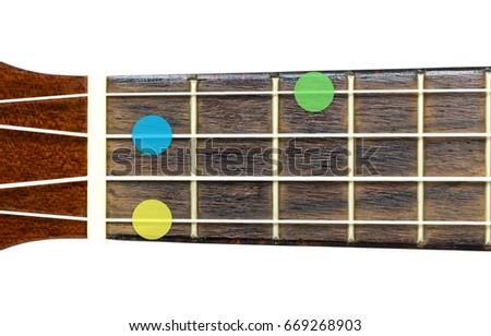 Ukulele Chord F Minor Fm On Stock Photo Royalty Free 669268903