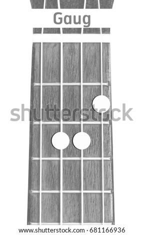 Ukulele Chord Gm On White Background Stock Photo (100% Legal ...