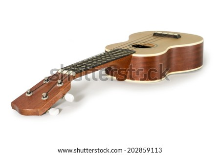 Ukulele guitar isolated on white Clipping path included : does not include shadow