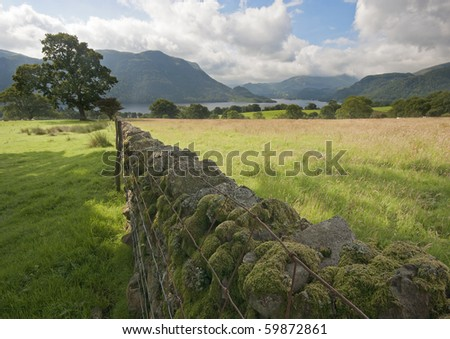 Ullswater as seen from Park Brow in the Lake District, England