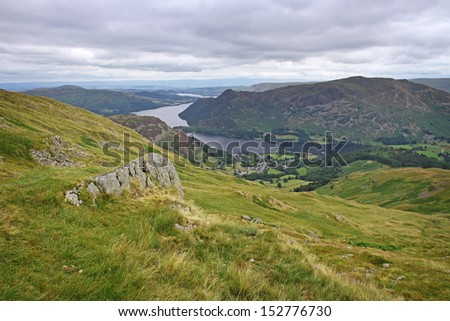 ullswater in lake district, england, united kingdom - stock photo