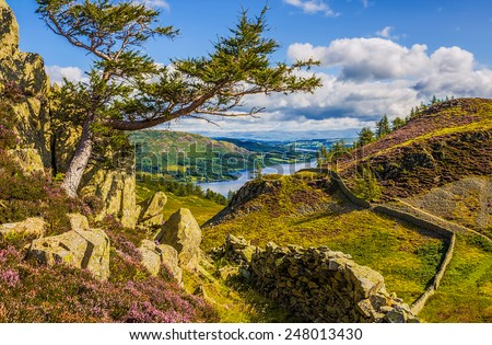 Ullswater Lake England Landscape - stock photo