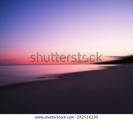 Ultra clear horizontal sunset on epic lake landscape abstraction - stock photo
