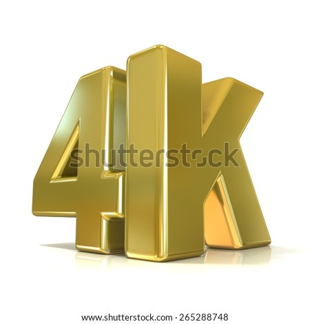 Ultra HD (high definition) resolution technology. 4K concept. 3D render illustration isolated on white background - stock photo