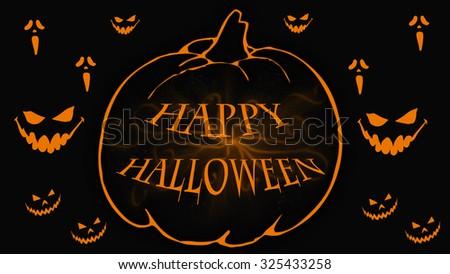 Happy Halloween Vector Illustrationtrick Treat Stock Vector ...
