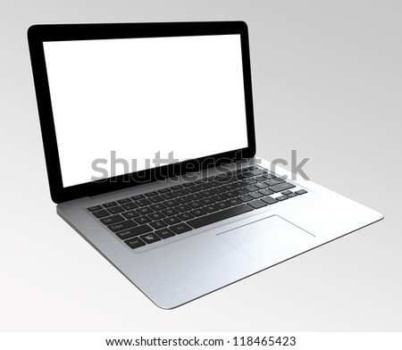ultra thin laptop computer with blank space