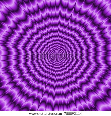 Ultra Violet Big Bang / An abstract fractal image with an optically challenging explosive design in ultra violet.