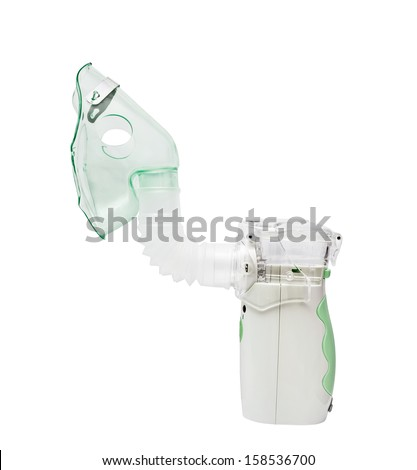 ultrasonic mesh-nebulizer on the white