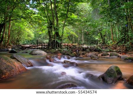 Ulu Yam River,Malaysia - stock photo