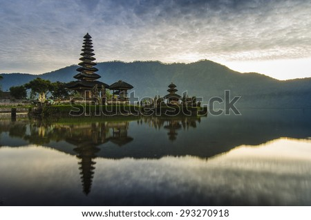Ulun Danu Beratan Temple, Bali, Indonesia, Bali Temple, Temple - stock photo