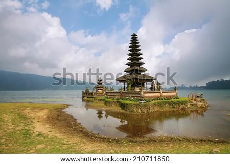 Ulun Danu Bratan hindu floating temple in Bali, Indonesia. - stock photo