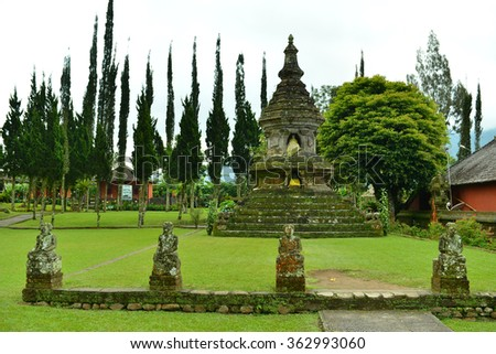 Ulun Danu Bratan Temple at Bedugul, Bali - stock photo