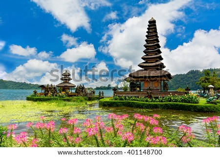 Ulun danu bratan temple, Bali, Indonesia - stock photo