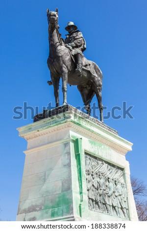 Ulysses S. Grant Memorial statue in Washington DC - USA - stock photo