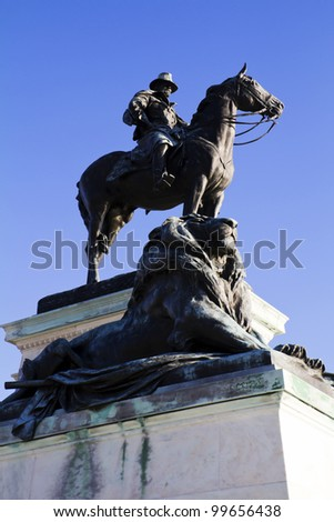 Ulysses S. Grant Statue, in front of the US Capitol Building, Washington, DC - stock photo