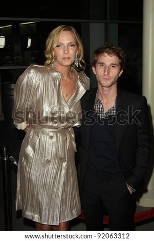 """Uma Thurman and Max Winkler  at the """"Ceremony"""" Los Angeles Premiere, Arclight, Hollywood, CA. 03-22-11 - stock photo"""
