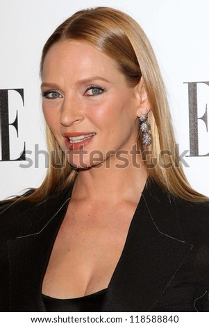 Uma Thurman at the Elle Magazine 17th Annual Women in Hollywood, Four Seasons, Los Angeles, CA 10-15-12 - stock photo