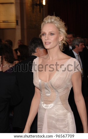UMA THURMAN at the 78th Annual Academy Awards at the Kodak Theatre in Hollywood. March 5, 2006  Los Angeles, CA  2006 Paul Smith / Featureflash