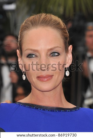 Uma Thurman  at the 64th Festival de Cannes awards gala. May 22, 2011  Cannes, France Picture: Paul Smith / Featureflash - stock photo