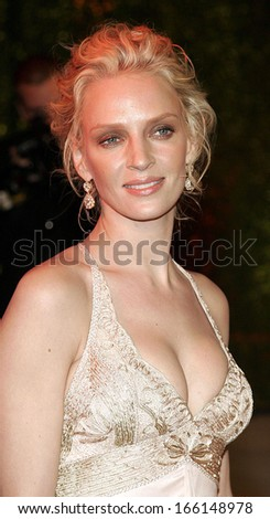 Uma Thurman at Vanity Fair Oscar Party, Mortons in West Hollywood, Los Angeles, CA, March 05, 2006