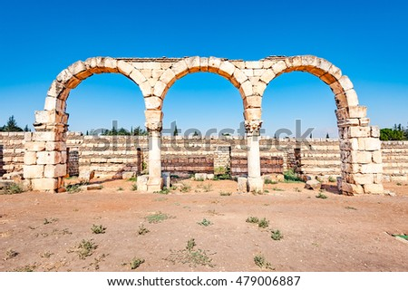 Umayyad City of Anjar in Lebanon. It is located about 50km east of Beirut and has led to its designation as a UNESCO World Heritage Site in 1984.