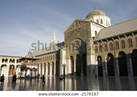 Umayyad mosque in Damascus, Syria, Middle East - stock photo