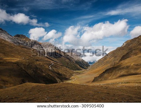 Umbrail Pass - stock photo