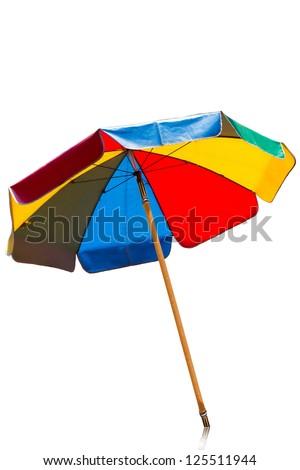 Umbrella color - stock photo