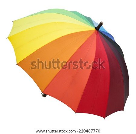 umbrella color on a white background file includes a excellent clipping path - stock photo
