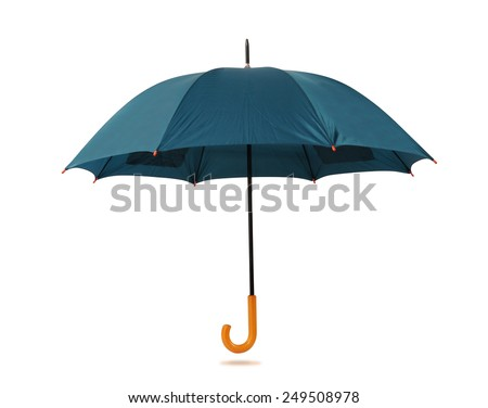 Umbrella isolated against white background.