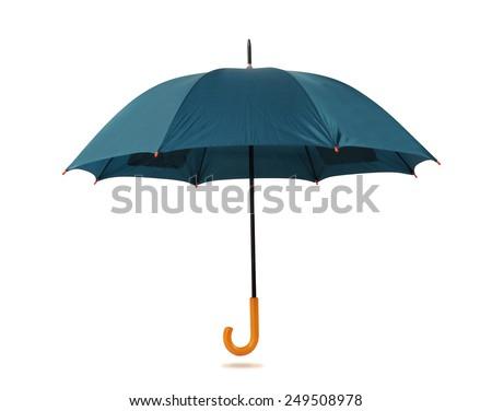 Umbrella isolated against white background. - stock photo