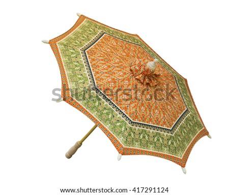 Umbrella isolated on white background - stock photo