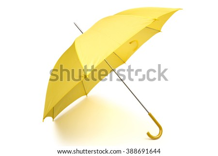 umbrella on the white background - stock photo