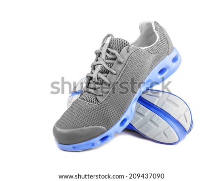 Unbranded running shoes, sneakers or trainers on white