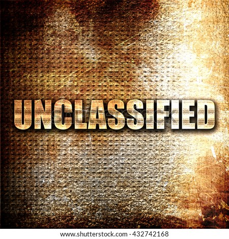 unclassified, 3D rendering, metal text on rust background - stock photo