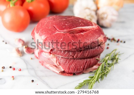 Uncooked Beef Ready for Roasting - stock photo