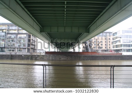 Under a bridge in colonge