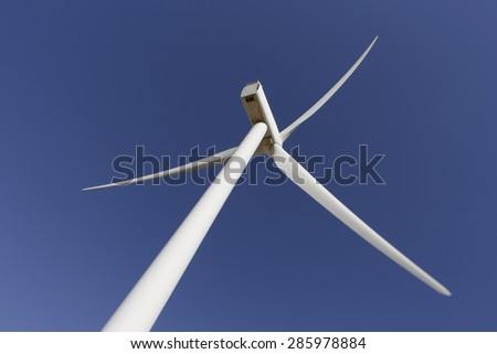 Under a windmill - stock photo