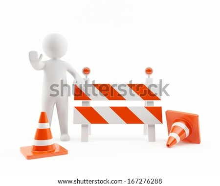 Under construction area - stock photo