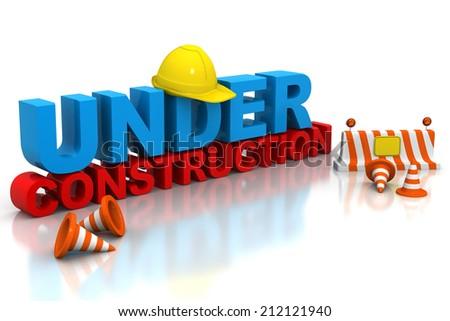 Under construction concept - stock photo